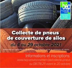 Collecte des pneus de couverture de silos